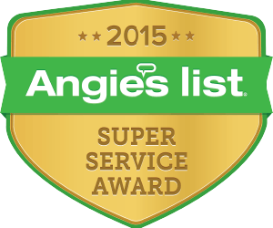 2015 Super Service Award from Angie's List