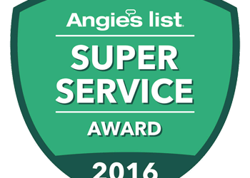 2016 Super Service Award from Angie's List